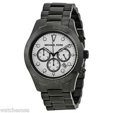 Michael Kors Layton Chronograph White Dial Black Ion-plated Mens Watch MK6083