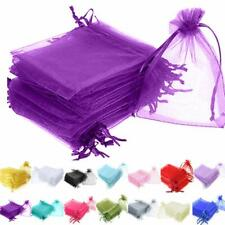 25/50/100pcs Organza Gift Bags Wedding Party Decor Favor Jewelry Candy Pouches
