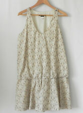 Miss Sixty Dress Drop Waist Large Arm Pit Sleeveless 100% Cotton Italy Size L