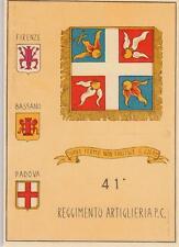 A9544) PADOVA, 41 REGGIMENTO ARTIGLIERIA PESANTE CAMPALE.