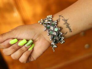 Silver Bracelets Indian Ethnic Designer Bangles For Women Glasswork Jewelry