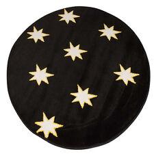Black Glow In The Dark Stars Round Rug