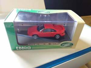 EBBRO OLDIES -TOYOTA MR2 SW 20 1989 RED    #266  HTF NEAR MINT *COMBINED POST*
