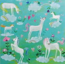 Mila Marquis Postkarte*14x14*Einhörner*Regenbogen*Glitzer*Einhorn*Grußkarte