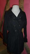 Size10 Long Sleeve Black Mini Dress with Square Stud Embellishment by Hurwundeki