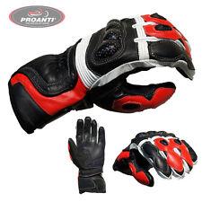 Motorradhandschuhe Racing Leder Motorrad Handschuhe PROANTI M-XXL