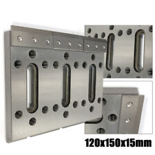 Stainless steel Wire Edm Fixture Board Stainless Jig Tool 120x150x15mm Silver Us