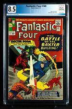 FANTASTIC FOUR #40 (Marvel 1964) PGX 8.5 VF+ Very Fine Plus- DOOM & DD + CGC!!!