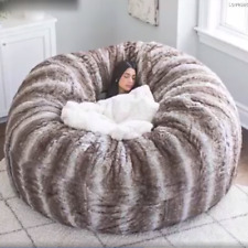 Anti Winter Cold Luxury 7 Ft Pv Fur Giant Bean Bag Cover Only Sofa FAST DELIVERY