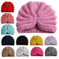 ITS- Newborn Baby Solid Color Elastic Cotton Beanie Cap Infant Turban Hat Natura