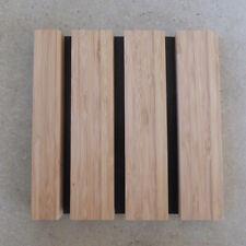 19mm Depth Easyfit Bamboo Individual Slats on Black Panel (SAMPLE 200 x 200 mm)