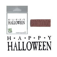 Halloween Halloween Words Rubber Stamp Impression Obsession Stamps D3524