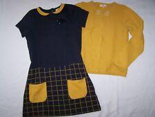 esprit coloré ensemble robe + gilet DU PAREIL AU MÊME  taille 8 ans