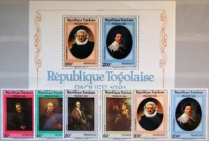TOGO 1981 1528-33 A Block 174 1101-04 C438-C439a Easter Ostern Religion Painting