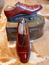Alfred Sargent 'Edmonton' Cognac Leather Oxford Toe Cap Shoes Size 8