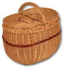 Picknickkorb Picknick Korb  Einkaufskorb mit Dekel Weide  WIKLER Weidenkorb