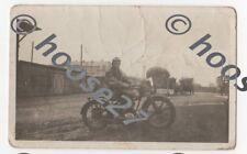 Foto Motorrad 20iger Jahre Waldenburg Sachsen Format 5x8 cm original vor 1945
