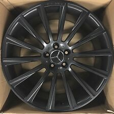20 NEW AMG OEM S550 CL S 2017 MODEL MERCEDES RIMS WHEELS BLACK SET OF 4 S63 S65