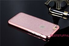 GLITTER BACK Fits IPhone  Soft Bling Shock Proof Silicone Case Plating Frame a30