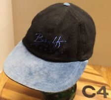 BANFF CANADA HAT BLACK/BLUE ADJUSTABLE WOOL BLEND VERY GOOD CONDITION C4