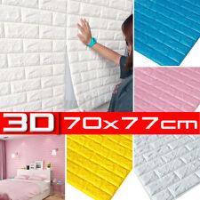 10 Stk 3D Tapete Selbstklebend Wandpaneele Ziegelstein Wandaufkleber Wasserfest