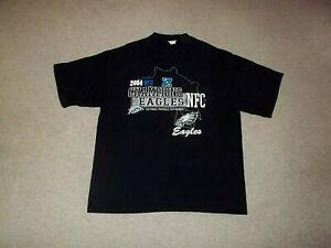 2004 NFC Champions Philadelphia Eagles Lee Sport BLK 2XL Shirt Super Bowl XXXIX