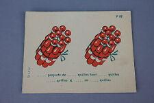 Matériel scolaire Studia carte carton calcul Multiplication paquets quilles P82