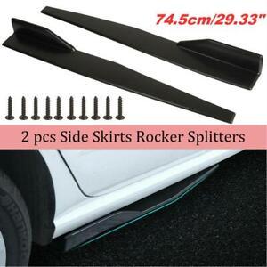 For Universal Car Side Skirt Extension Rocker Panel Body Kit Lip Splitters 2pcs