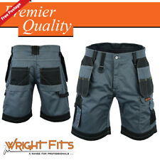 Mens Cargo Redhawk Pro Work Shorts Grey & Black Multi Pockets Waist 30 - 42 LOT
