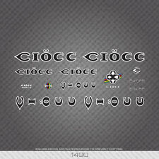 01490 Ciocc Bicycle Stickers - Decals - Transfers - Black With White Keyline