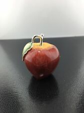 Sterling silver & hand enameled Red Saturno Apple figurine
