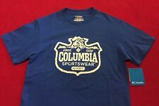 New Men's Columbia Sportswear Outdoor Stamp 100% Cotton T-Shirt Size Small
