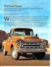 1957 CHEVROLET 3100 PICKUP TRUCK  ~  GREAT 4-PAGE ARTICLE / AD