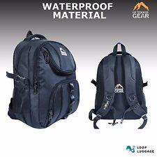 New Black Waterproof Shoulder School Travel Hiking Backpack Rucksack Bag