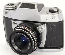 EXA IIb 35mm SLR Camera by Ihagee Dresden + Meyer-Optik Domiplan 50mm F2.8 Lens