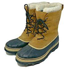 "Sorel Caribou Winter Snow Boots Sz 15 NM100-281 Warm Lined Waterproof 12"" Tall"