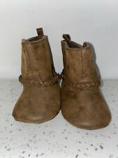 CARTER'S BABY GIRL  Soft Faux Leather Easy On/Off Boots 9-12 Months