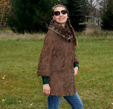 BROWN SWAKARA LAMB /  Sable FUR JACKET size-10