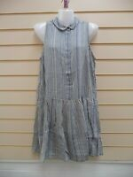 FRENCH CONNECTION DRESS SIZE 10 BLUE STRIPE SMOCK  BNWT  G043