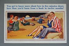 R&L Postcard: Comic, Donald McGill, Sex Education, Snuggliing Couples