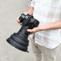 L Universal Reflection-free Collapsible Photography Lens Hood for Camera Phone