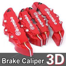 4x Caches étriers de freins 3D Universel disque TOUTES MARQUES *Rouge*