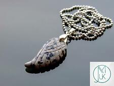 Dalmatian Jasper Gemstone Angel Wing Pendant Necklace Natural Chakra Healing