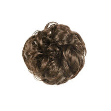 Fashion Drawstring Wavy Curly Buns Clip-In Hair Girls Womens Hairpiece Wig