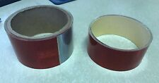 """CONSPICUITY TAPE 2""""X 90"""" & 1 1/2""""X 90"""" DOT C2 RED/WHITE REFLECTIVE SAFETY TRAILE"""
