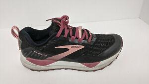 Brooks Cascadia 15 Trail Running Shoes, Black/Purple, Women's 6.5 Wide