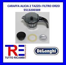 CARAFFA CAFFETTIERA ALICIA 2 TAZZE+ FILTRO ORZO DE LONGHI ORIGINALE 5513200389