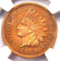 1909-S Indian Cent Penny 1C - NGC Uncirculated Details (UNC MS) - Rare Key Date