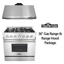 "Thor Kitchen 36'' 6 burners Gas Range 36"" Under Cabinet Hood Package HRG3618U"