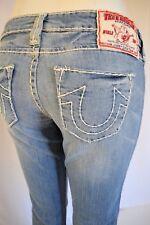 True Religion JOHNNY SUPER T  STRAIGHT Jeans Women SZ 25 in MEDIUM BLUE
